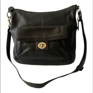 Black Coach leather Crossbody